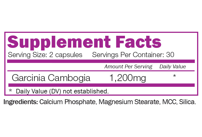 GARCINIA CAMBOGIA - with Extra Strength 80% HCA