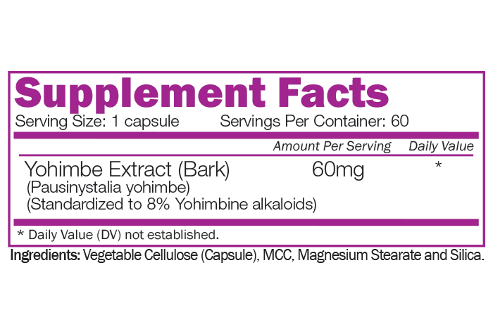 ULTIMATE YOHIMBE - Standardized to 8% alkaloids
