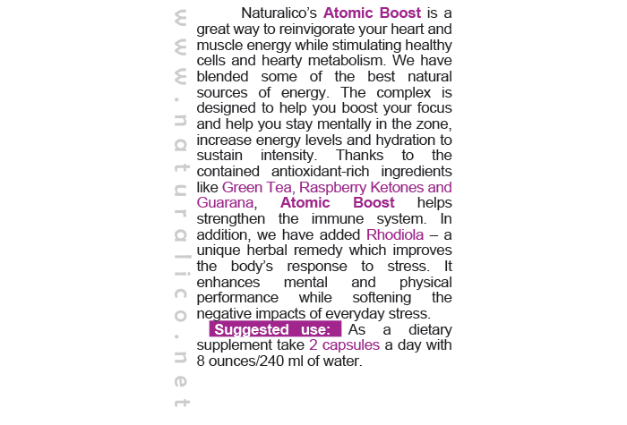 ATOMIC BOOST - with Rhodiola Root Extract