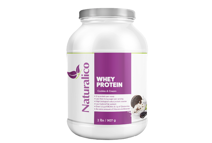 WHEY PROTEIN COOKIES & CREAM 2 LBS