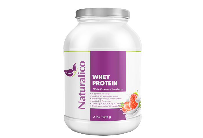 WHEY PROTEIN WHITE CHOCOLATE STRAWBERRY 2 LBS