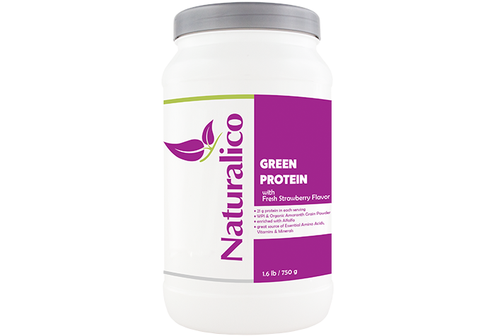 GREEN PROTEIN - with Fresh Strawberry Flavor