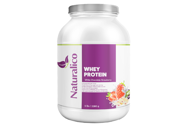 WHEY PROTEIN WHITE CHOCOLATE STRAWBERRY